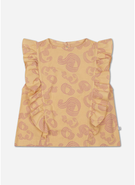 Repose ruffle top woven pinkish sandy curl
