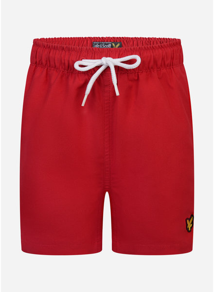 Lyle & Scott classic swim shorts tango red