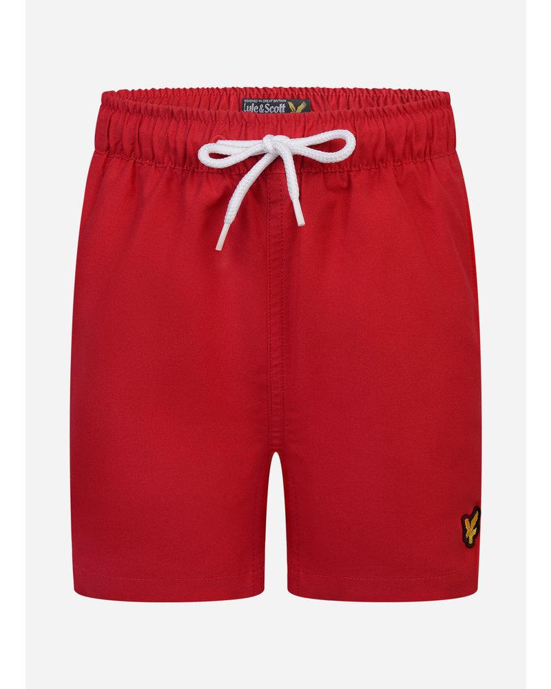 Lyle & Scott classic swim shorts tango red