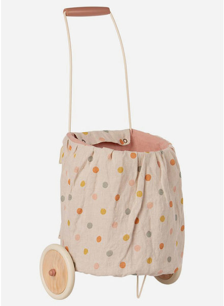 Maileg trolley multi dots rose