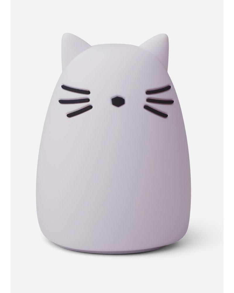 Liewood winston night light - cat light lavender