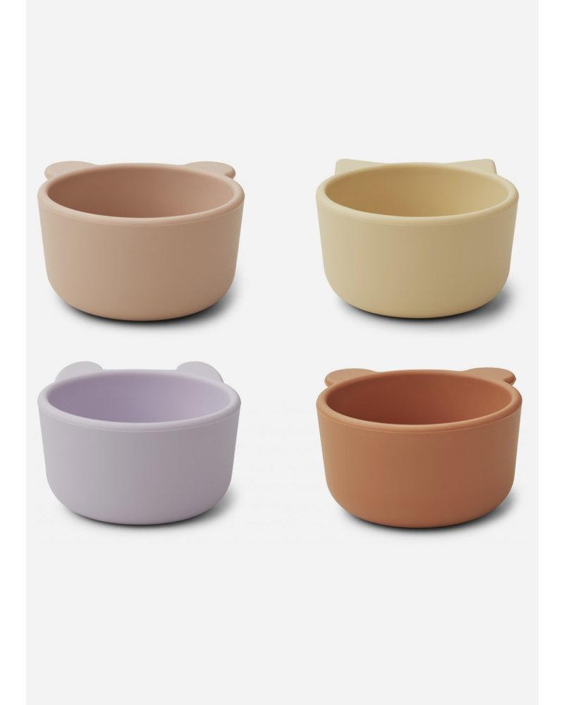 Liewood malene silicone bowl 4 light lavender multi mix