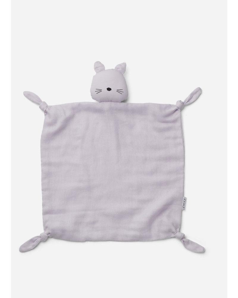 Liewood agnete cuddle cloth cat light lavender