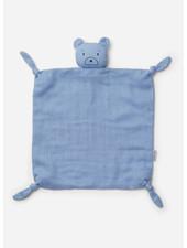 Liewood agnete cuddle cloth mr bear sky blue