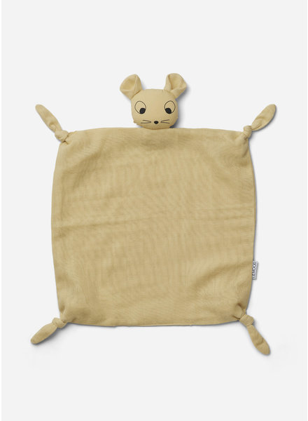 Liewood agnete cuddle cloth mouse wheat yellow