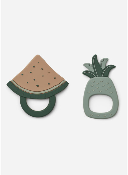 Liewood gia teether 2-pack fruit peppermint multi mix