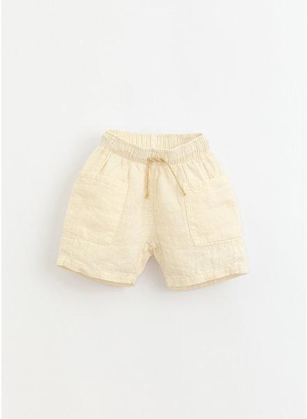 Play Up * linen shorts - dandelion - 3AI11704 - P0058