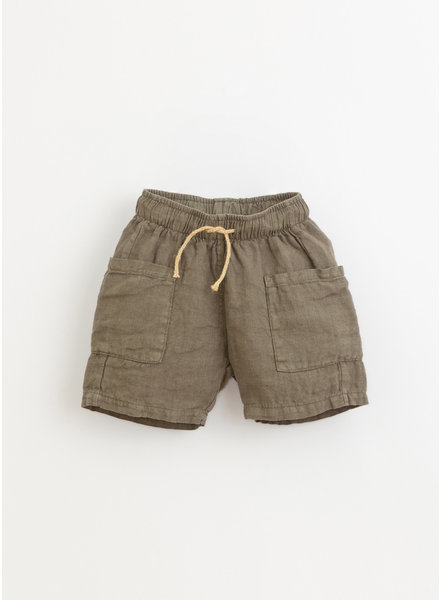Play Up * linen shorts - cocoon - 3AI11704 - P7155