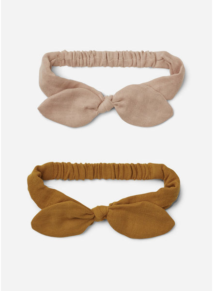 Liewood henny headband 2-pack rose mustard mix