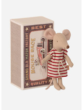 Maileg big sister mouse in a match box