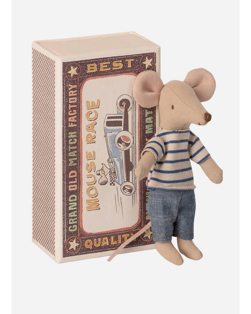 Maileg big brother mouse in a match box