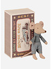 Maileg little brother mouse in a match box