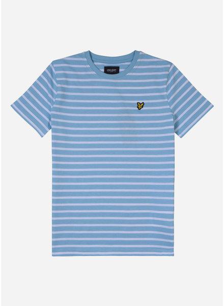 Lyle & Scott breton t shirt sky blue