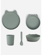 Liewood paul tableware set rabbit peppermint