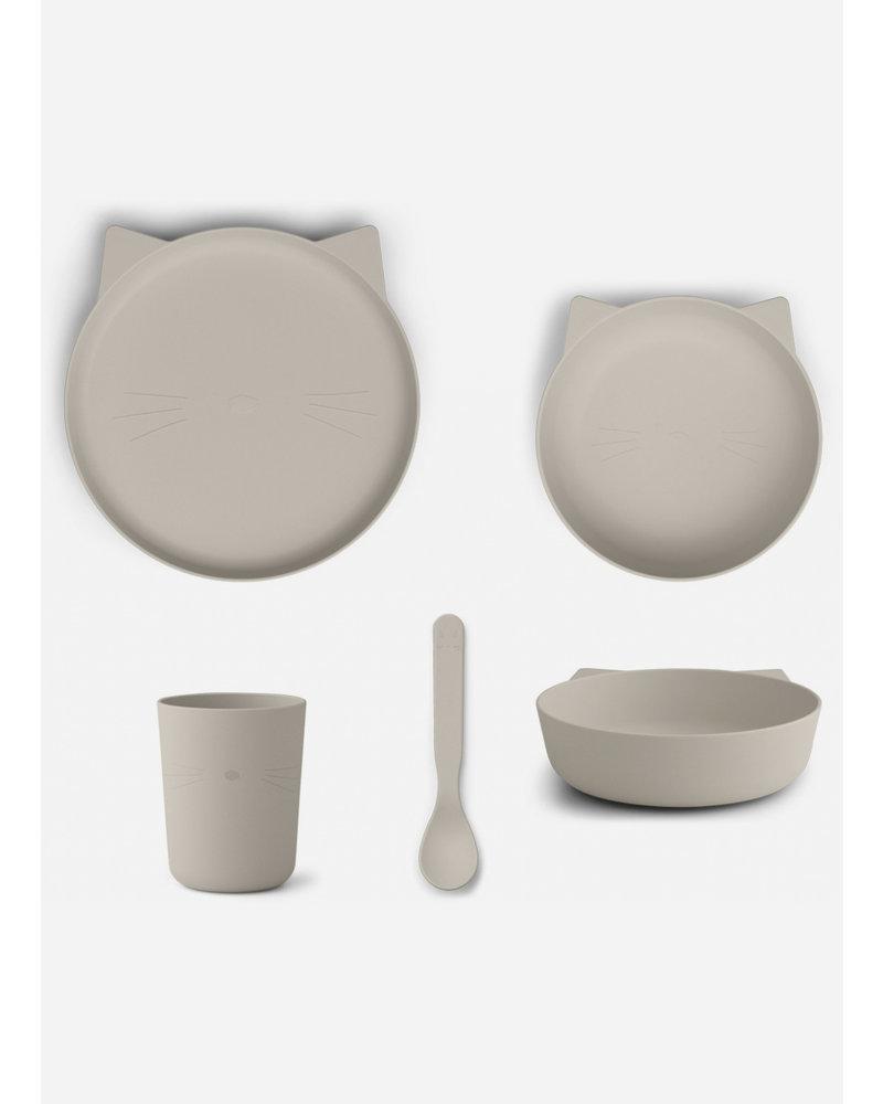 Liewood paul tableware set cat sandy