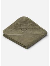 Liewood albert hooded towel mr bear khaki