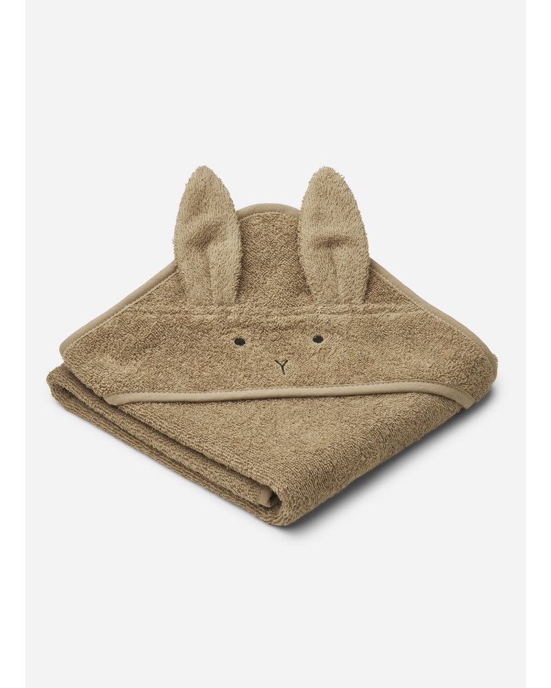 Liewood albert hooded towel rabbit oat