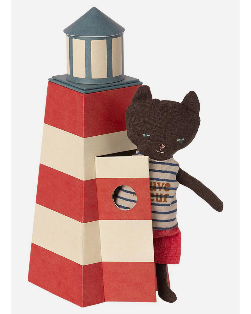 Maileg tower with cat