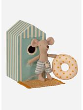 Maileg beach mice little brother in cabin de plage