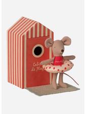 Maileg beach mice little sister in cabin de plage