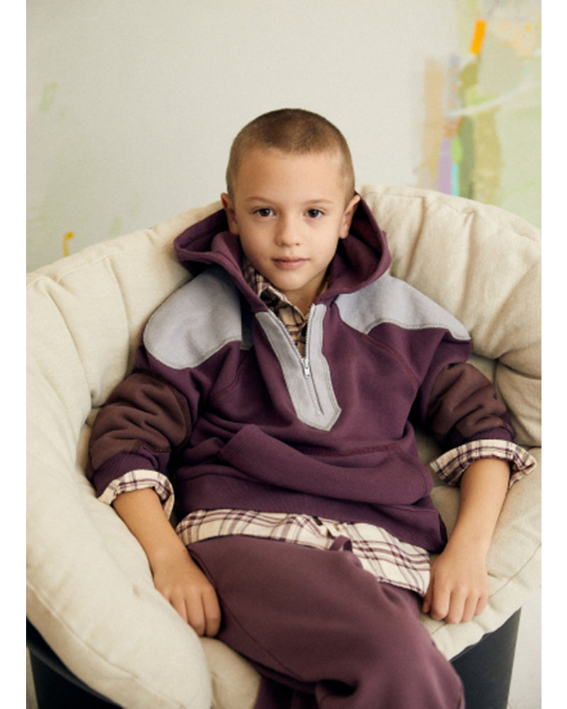 The New Society dorian sweater terry plum
