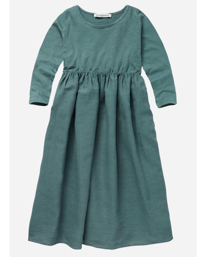 Mingo linen dress sea grass