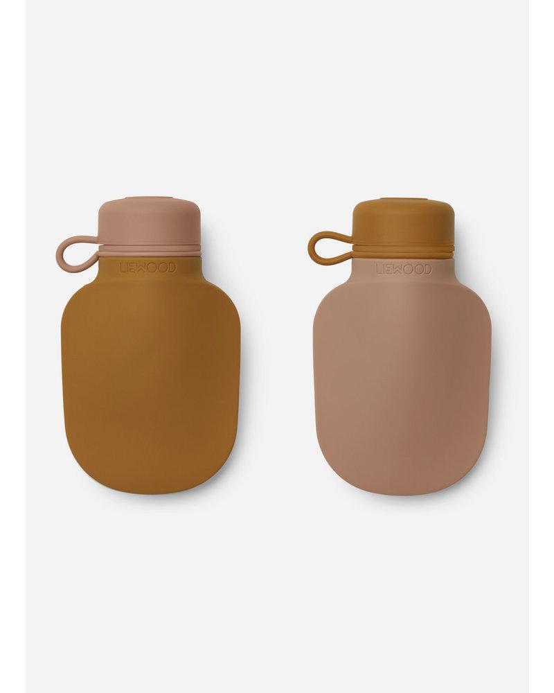 Liewood silvia smoothie bottle   mustard / dark rose