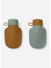 Liewood silvia smoothie bottle   mustard / peppermint mix