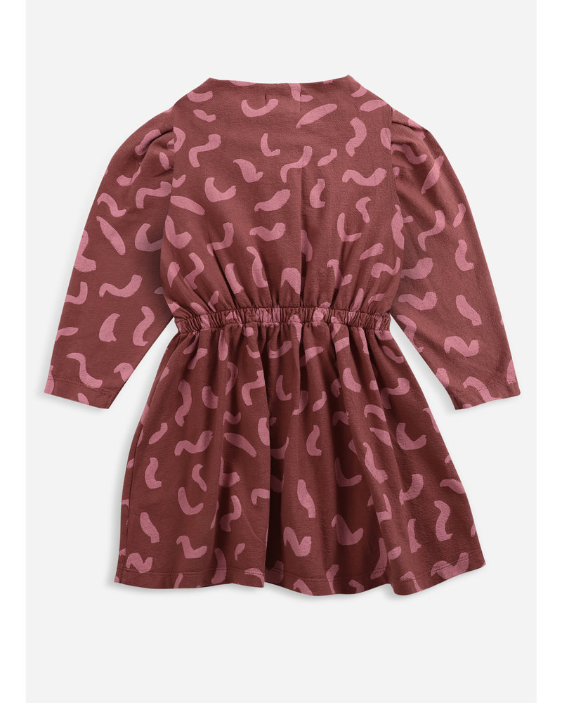 Bobo Choses shapes all over buttoned fleece dress