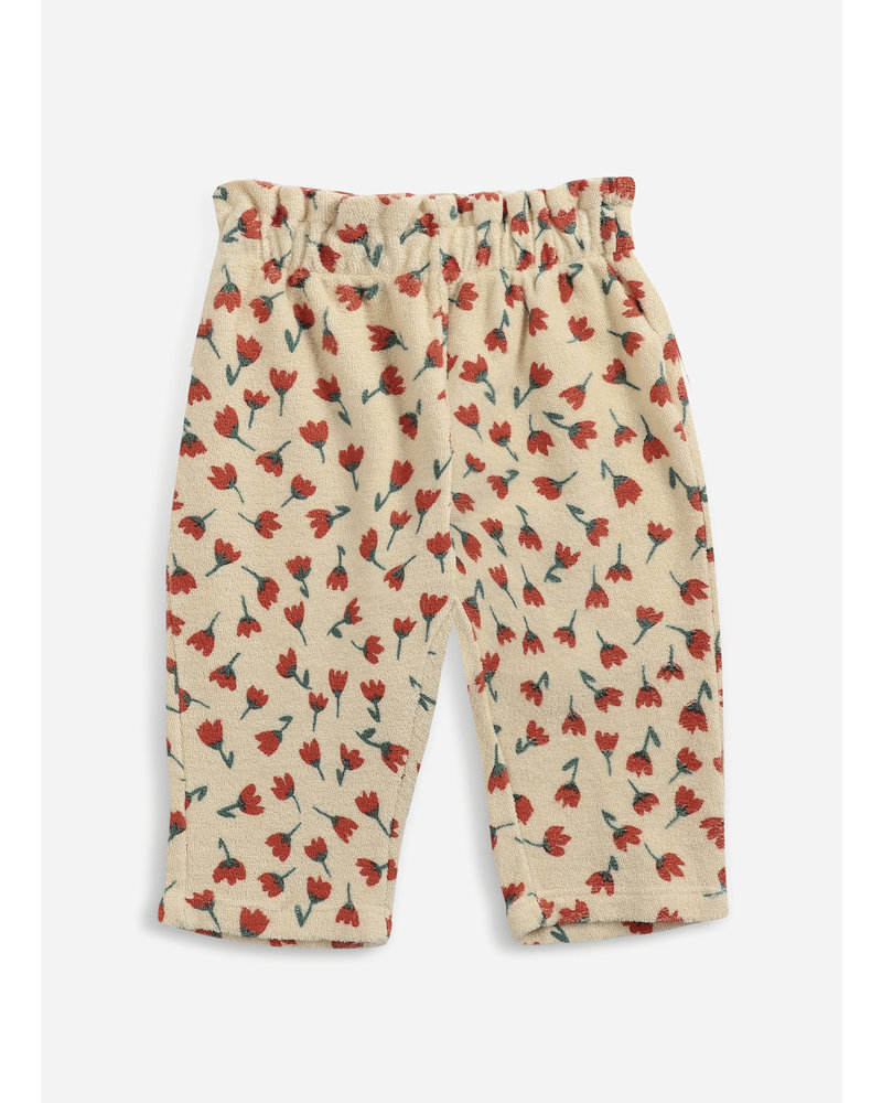 Bobo Choses flowers all over terry jogging pants