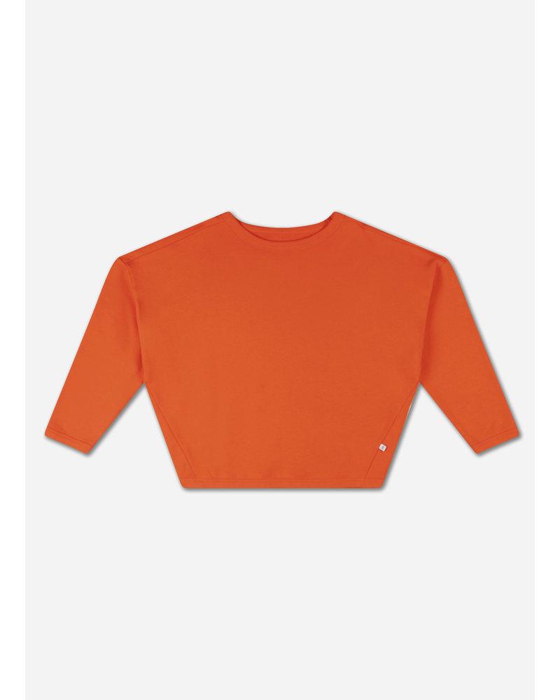 Repose boxy sweater spicy orange red