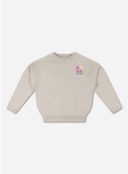 Repose crewneck sweater light mixed grey