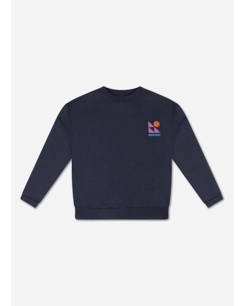 Repose crewneck sweater dark night blue