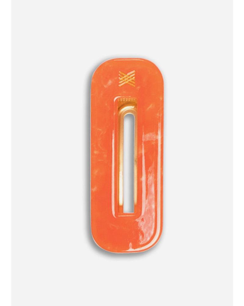 Repose hair clip squared spicy orange