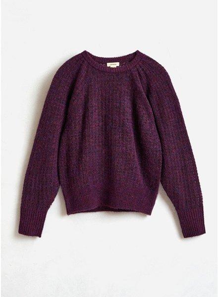 Bellerose gepart knitwear aubergine