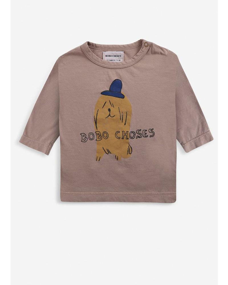 Bobo Choses dog in the hat long sleeve tshirt