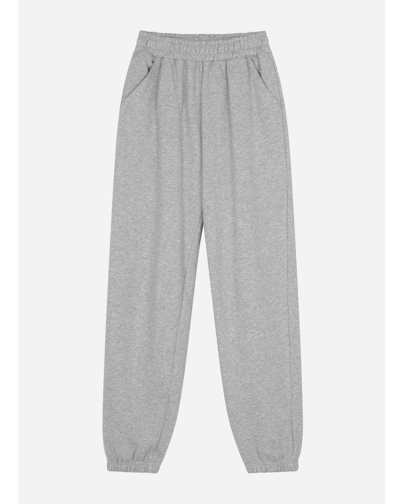 Designer Remix Girls willie embroidered sweat pants grey melange