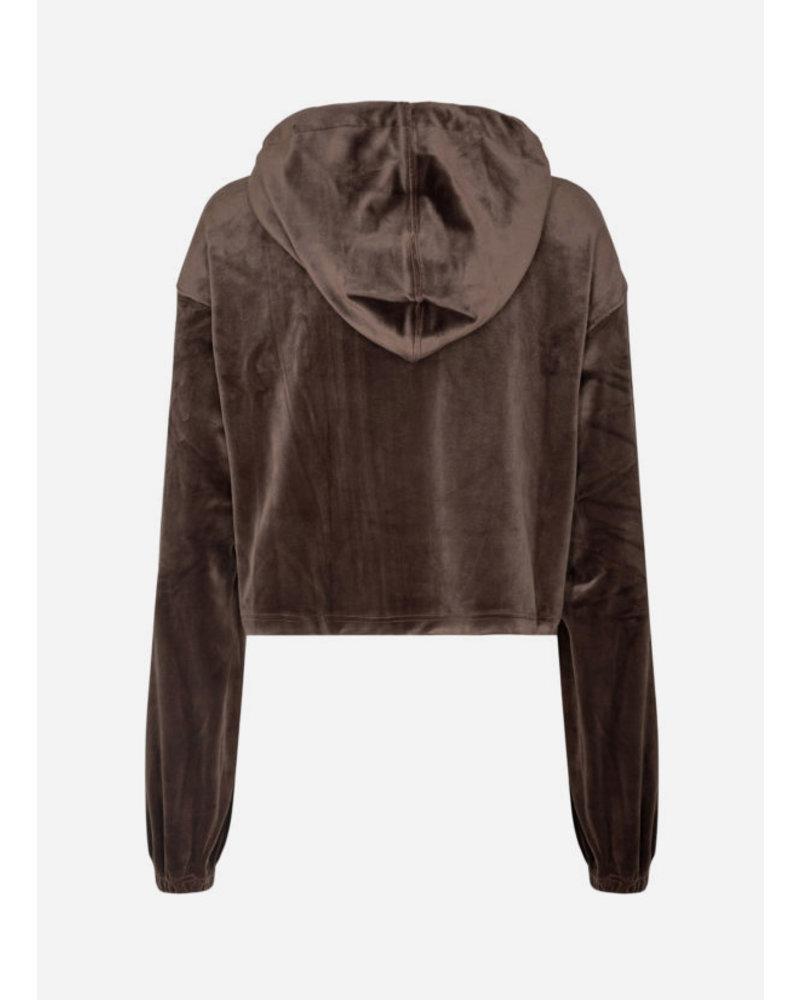 Designer Remix Girls frances cropped hoodie mud