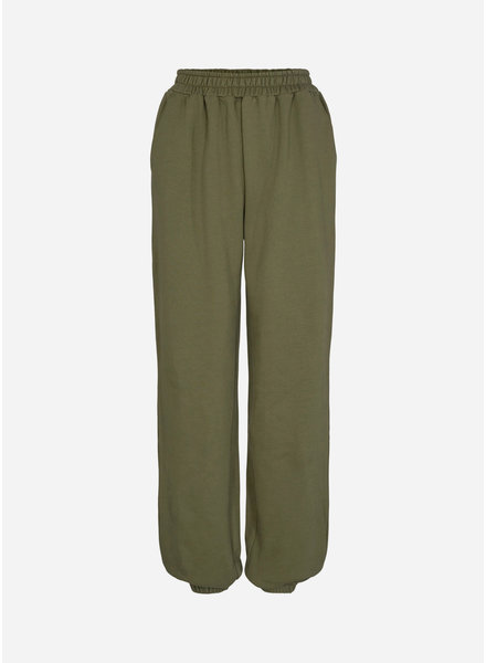 Designer Remix Girls willie printed sweat pant green white