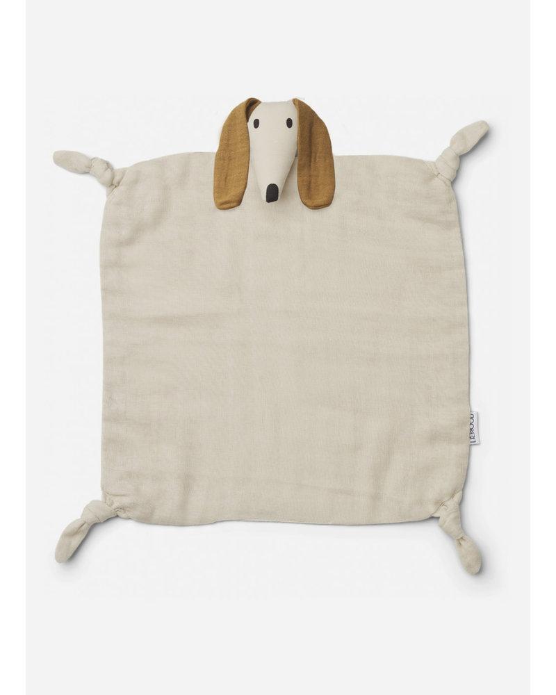 Liewood agnete cuddle cloth - dog sand
