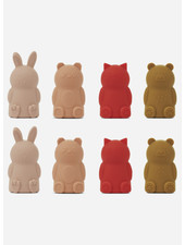 Liewood jim finger puppets 8pack  -  rose multi mix