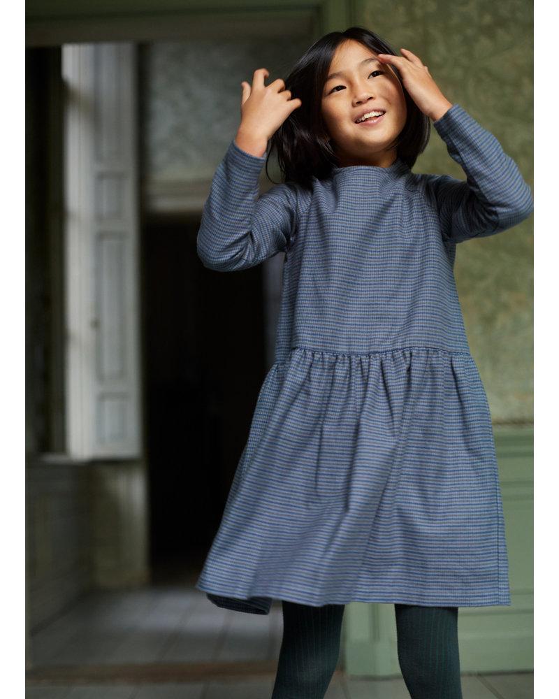 Mingo flanel dress british blue check