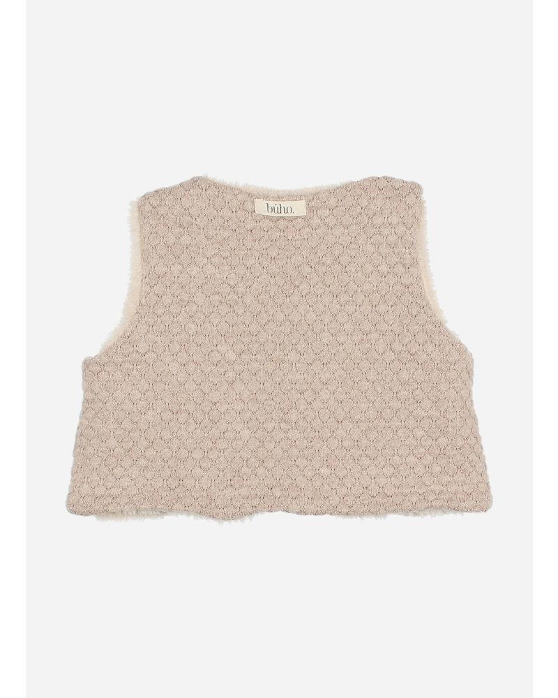 Buho soft jacquard waistcoat natural