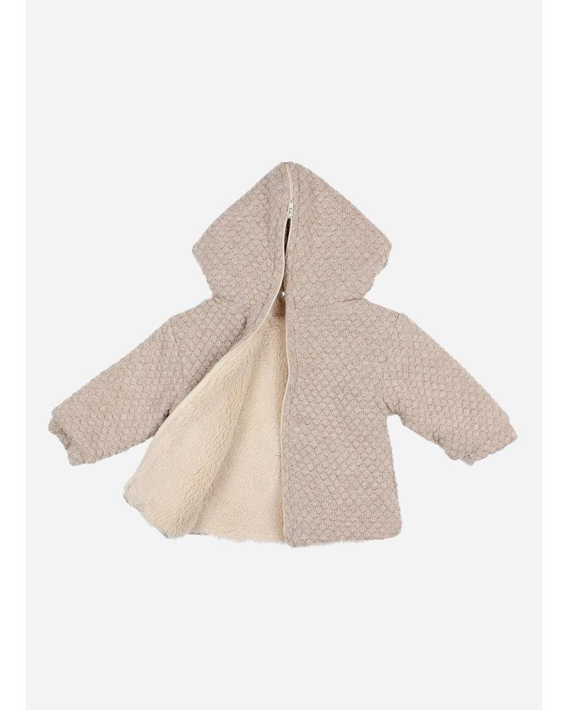 Buho soft jacquard jacket natural