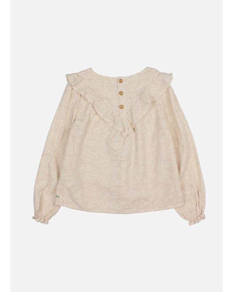 Buho floral jacquard blouse stone