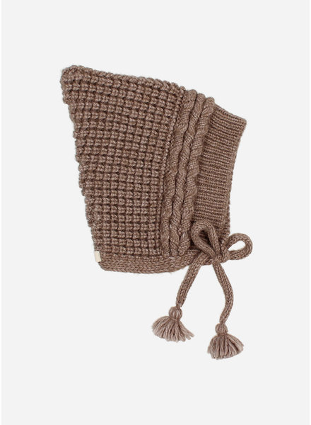 Buho baby soft knit hat wood
