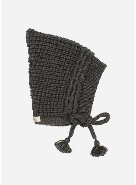 Buho baby soft knit hat antracite