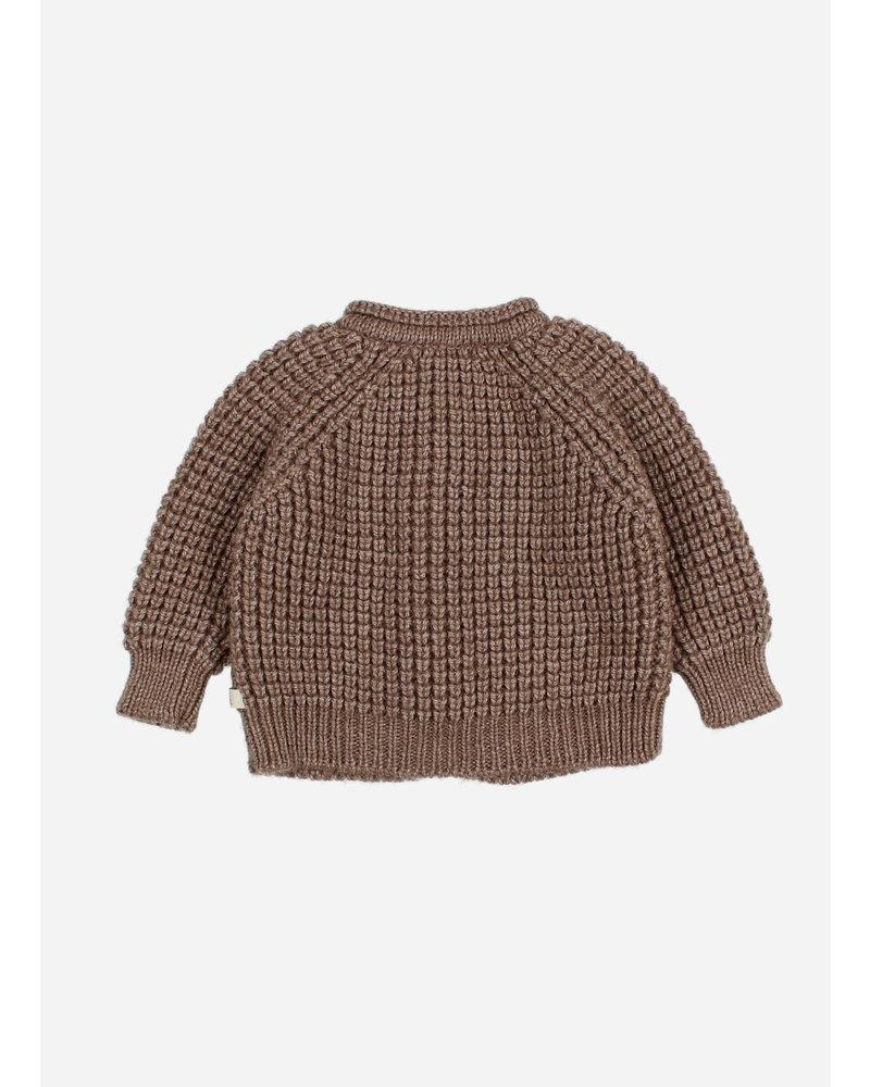 Buho baby soft knit cardigan wood
