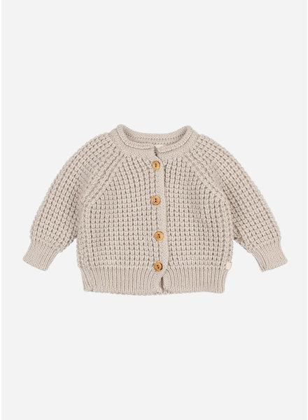 Buho baby soft knit cardigan natural