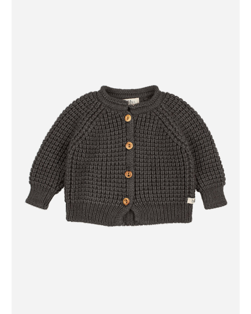 Buho baby soft knit cardigan antracite